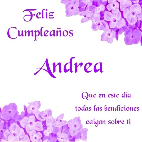 ¡Feliz Cumpleaños,Andrea! Imágenes para descargar y enviar gratis (4)