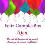 ¡Feliz Cumpleaños, Alex! | Imágenes para descargar y enviar gratis