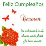 ¡Feliz Cumpleaños, Carmen!   Lindas imágenes para descargar y enviar gratis