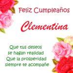 ¡Feliz Cumpleaños, Clementina!   Imágenes para descargar y enviar gratis