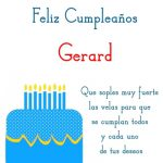 ¡Feliz Cumpleaños, Gerard! | Imágenes para descargar y enviar gratis