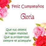¡Feliz Cumpleaños, Gloria! | Imágenes para descargar y enviar gratis