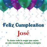 ¡Feliz Cumpleaños, José! | Imágenes para descargar y enviar gratis