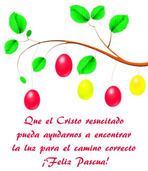 Frase de Feliz Pascua de Resurrección