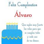 ¡Feliz Cumpleaños, Álvaro! | Imágenes para descargar y enviar gratis