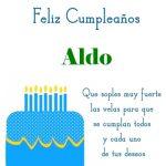¡Feliz Cumpleaños, Aldo! | Imágenes para descargar y enviar gratis