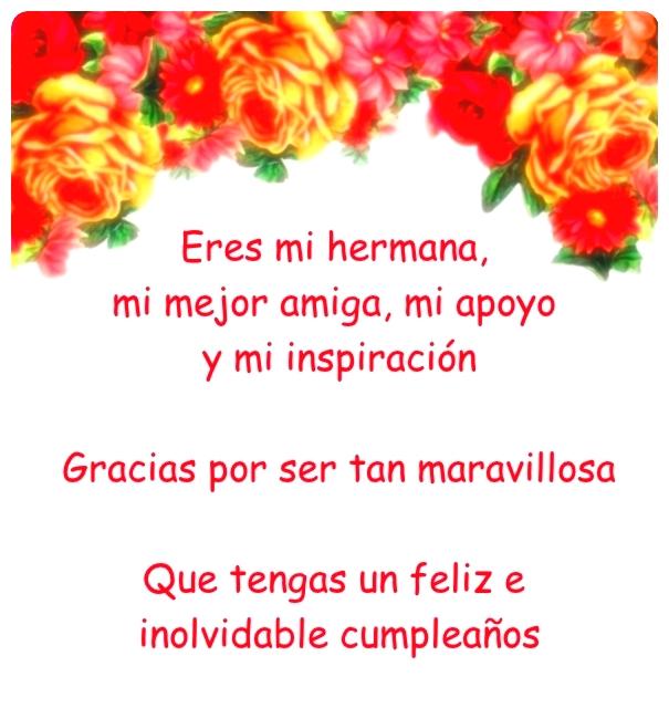 Imagen Bonita Con Frase De Cumpleaños Para Una Hermana Mayor