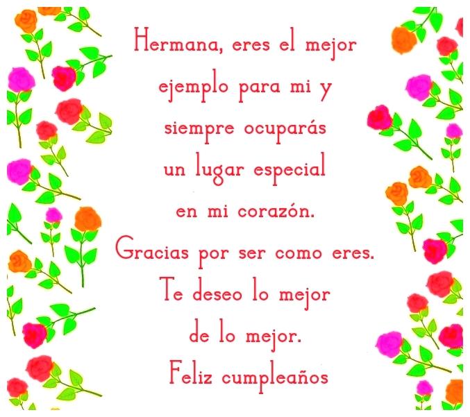Imagen Con Frase De Cumpleaños Para Una Hermana Mayor