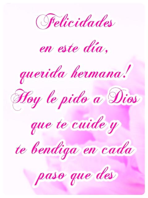 Imagen Con Mensajes De Cumpleaños Cristiano Para Una Hermana