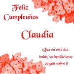 ¡Feliz Cumpleaños, Claudia! | Imágenes para descargar y enviar gratis