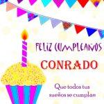¡Feliz Cumpleaños, Conrado! | Imágenes para descargar y enviar gratis