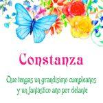 ¡Feliz Cumpleaños, Constanza!   Imágenes para descargar y enviar gratis