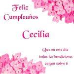 ¡Feliz Cumpleaños, Cecilia! | Imágenes para descargar gratis