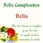 ¡Feliz Cumpleaños, Delia! | Imágenes para descargar y enviar gratis