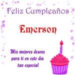 ¡Feliz Cumpleaños, Emerson!   Imágenes para descargar y enviar gratis