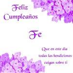 ¡Feliz Cumpleaños, Fe! | Imágenes para descargar y enviar gratis