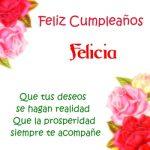 ¡Feliz Cumpleaños, Felicia! | Imágenes para descargar y enviar gratis