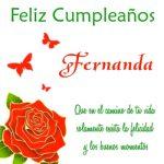 ¡Feliz Cumpleaños, Fernanda! | Imágenes para descargar y enviar gratis