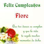 ¡Feliz Cumpleaños, Fiore!   Imágenes para descargar y enviar gratis
