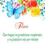 ¡Feliz Cumpleaños, Flor!   Imágenes para descargar y enviar gratis