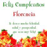 ¡Feliz Cumpleaños, Florencia! | Imágenes para descargar y enviar gratis
