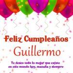 Imágenes de cumpleaños con nombre Guillermo