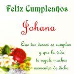 Imágenes de cumpleaños con nombre Johana