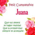 Imágenes de cumpleaños con nombre Juana