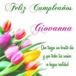 ¡Feliz Cumpleaños, Giovanna! | Imágenes con felicitaciones