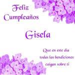¡Feliz Cumpleaños, Gisela! | Imágenes con felicitaciones