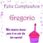 ¡Feliz Cumpleaños, Gregorio!   Imágenes con felicitaciones