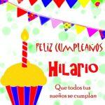 Imágenes de cumpleaños con nombre Hilario