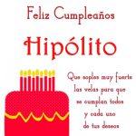 Imágenes de cumpleaños con nombre Hipólito