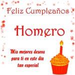 Imágenes de cumpleaños con nombre Homero