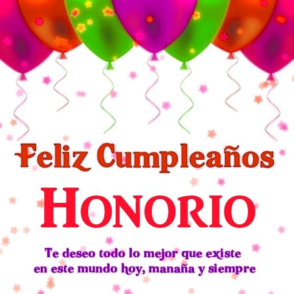 Feliz Cumpleaños Honorio 10