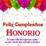 Imágenes de cumpleaños con nombre Honorio