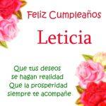 Imágenes de cumpleaños con nombre Leticia