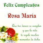 ¡Feliz Cumpleaños, Rosa María! | Imágenes de Cumpleaños
