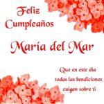 Imágenes con frases de cumpleaños para María del Mar