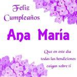 Imágenes de cumpleaños con nombre Ana María