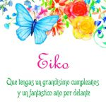 ¡Feliz Cumpleaños, Eiko!   Imágenes para descargar y enviar gratis