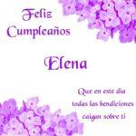 ¡Feliz Cumpleaños, Elena! | Imágenes para descargar y enviar gratis