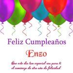 ¡Feliz Cumpleaños, Enzo!   Imágenes para descargar y enviar gratis