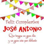 Imágenes de cumpleaños con nombre José Antonio