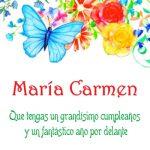 Imágenes de cumpleaños con nombre María Carmen