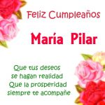Imágenes de cumpleaños con nombre María Pilar