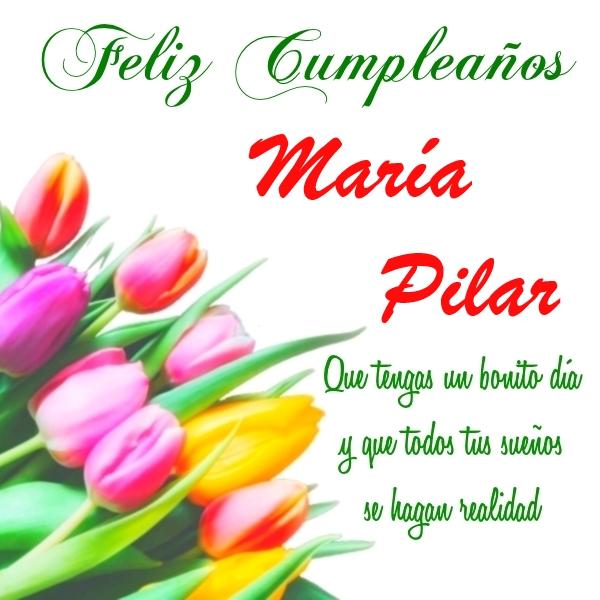Imágenes De Cumpleaños Con Nombre María Pilar 2 Imágenes Y Frases Bonitas