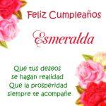 ¡Feliz Cumpleaños, Esmeralda! | Imágenes para descargar y enviar gratis