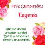 ¡Feliz Cumpleaños, Eugenia! | Imágenes para descargar y enviar gratis