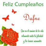 ¡Feliz Cumpleaños, Dafne! | Imágenes para descargar y enviar gratis